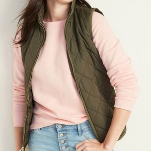 OLD NAVY Lightweight Diamond-Quilted ZipFront Vest